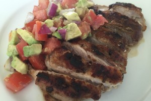 Sally's Spiced Chicken Rub with Avocado Salsa
